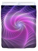 Purple Web Duvet Cover