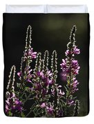 Purple Wild Flowers - 2 Duvet Cover