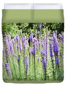 Purple Wild Flowers 2 Duvet Cover
