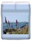 Purple Wildflowers At Netarts Bay Duvet Cover