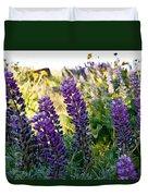 Purple Wildlfowers Duvet Cover