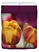 Purpleyellowtulips7016 Duvet Cover