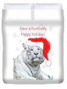 Purrfect Holiday Duvet Cover