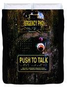 Push To Talk Duvet Cover by Bob Orsillo
