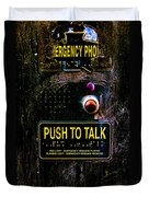 Push To Talk Duvet Cover
