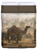 Pushkar Camel Fair - India Duvet Cover