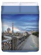 Putra Mosque At Sunset Duvet Cover