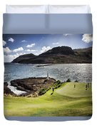 Putting Green In Paradise Duvet Cover