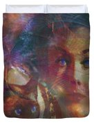 Pyewacket And Gillian - Square Version Duvet Cover