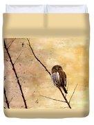 Pygmy Owl - The Watcher Duvet Cover