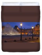 Pyramid At A Museum, Louvre Pyramid Duvet Cover
