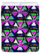 Pyramid Dome Triangle Purple Elegant Digital Graphic Signature   Art  Navinjoshi  Artist Created Ima Duvet Cover