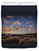 Pyramid Lake Sunset Duvet Cover