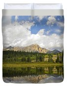 Pyramid Mountain And Cottonwood Slough Duvet Cover