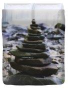Pyramid Of Rocks Duvet Cover