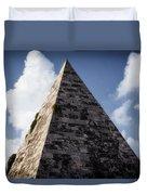 Pyramid Of Rome Duvet Cover