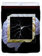 Pyramidal Neuron And Brain Duvet Cover