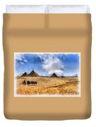 Pyramids Of Giza In Egypt Duvet Cover