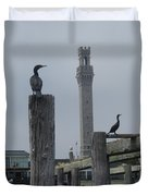 Pyrates On The Dock Duvet Cover