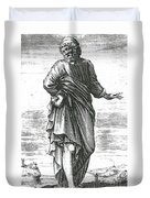 Pyrrho, Ancient Greek Philosopher Duvet Cover