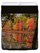 Quabbin Reservoir Fall Foliage Duvet Cover