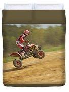 Quad Racer Jumping Duvet Cover