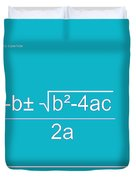 Quadratic Equation Aqua-white Duvet Cover