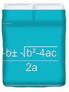 Quadratic Equation Aqua-white Duvet Cover