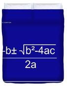 Quadratic Equation Blue-white Duvet Cover