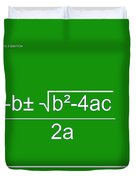Quadratic Equation Green-white Duvet Cover