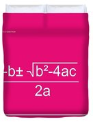 Quadratic Equation Duvet Cover