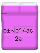 Quadratic Equation Pink-black Duvet Cover