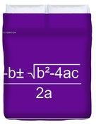 Quadratic Equation Violet-white Duvet Cover