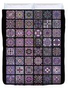 Quadtiles Three Dingbat Quilt Duvet Cover