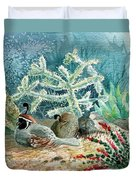 Quail At Rest Duvet Cover