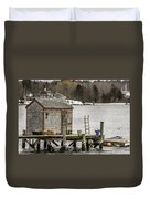 Quaint Fishing Shack New Hampshire Duvet Cover