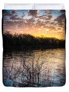 Quanah Parker Lake Sunrise Duvet Cover