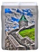 Quebec City Fortress Gates Duvet Cover