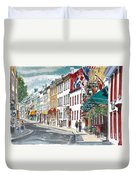 Quebec Old City Canada Duvet Cover