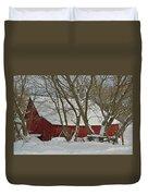 Quebec Winter Duvet Cover