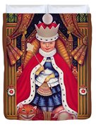 Queen Alice, 2008 Oil And Tempera On Panel Duvet Cover
