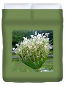 Queen Anne's Lace Flower Unfolded Duvet Cover