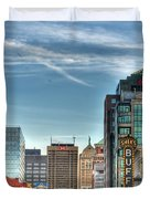 Queen City Downtown Duvet Cover
