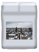 Queen City Winter Wonderland After The Storm Series 001 Duvet Cover