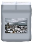 Queen City Winter Wonderland After The Storm Series 0011 Duvet Cover