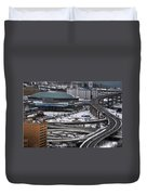 Queen City Winter Wonderland After The Storm Series 0014 Duvet Cover