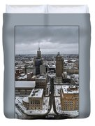 Queen City Winter Wonderland After The Storm Series 004 Duvet Cover