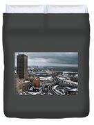 Queen City Winter Wonderland After The Storm Series 006 Duvet Cover