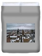 Queen City Winter Wonderland After The Storm Series 007 Duvet Cover