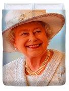 Queen Elizabeth II Portrait 100-028 Duvet Cover